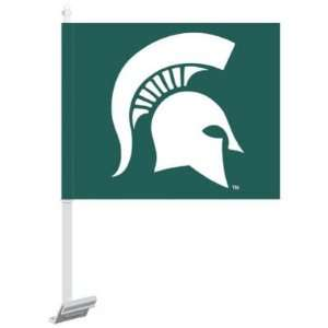 MICHIGAN STATE SPARTANS OFFICIAL LOGO CAR FLAG Sports
