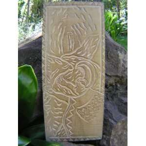 THE LAVA FLOW   KING KAMEHAMEHA   HAND CARVED STORYBOARD