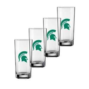 22814 16 Ounce Michigan State Logo   Set Of 4
