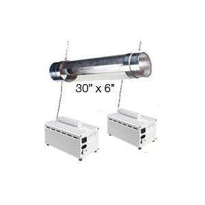 HPS Grow Light System Dual 600 watt 30 Dual Air Cooled Cylinder Light