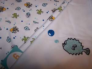 Gymboree Sea Creatures Receiving Baby Blanket   New w/Tags