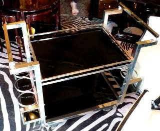 6812 Art Deco Chromed Bar Serving Cart