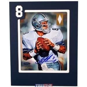 Autographed/Hand Signed Dallas Cowboys Game Used Jersey Patch Art Card