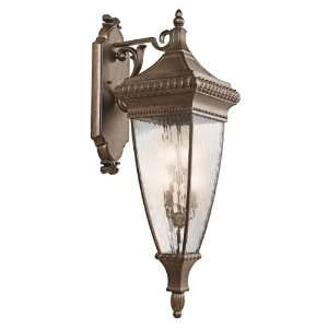 Kichler Lighting 49135BRZ Venetian Rain   Four Light Outdoor Wall