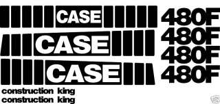 New Case 480F Loader Backhoe Whole Machine Decal Set Construction King