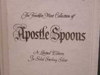 FRANKLIN MINT APOSTLE SPOON COLLECTION SOLID STERLING SILVER