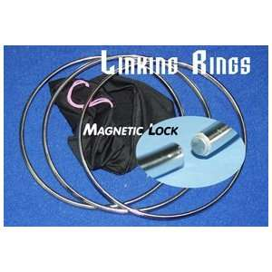 Linking Rings 3 Set Magnetic Lock 10 Stage Magic Toys