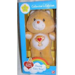 2003 Care Bears 12 Plush Champ Bear 20th Anniversary