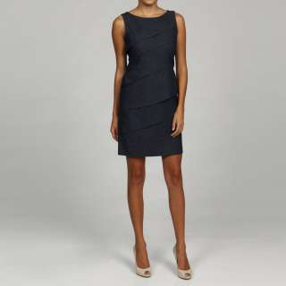 Jessica Howard Womens Petite Diagonal Tiered Dress
