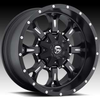 20x10 Black Fuel Krank Wheels 6x135 6x5.5 Rims
