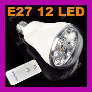 Emergency 12 LED Light Lamp Remote Control EP 201 E27 Bulb Bright