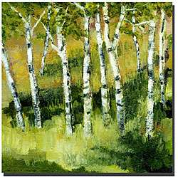 Michelle Calkins Birch Trees Gallery wrapped Canvas Art