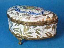 Antique French Sevres Hand Painted Jewelry Box c. 1870