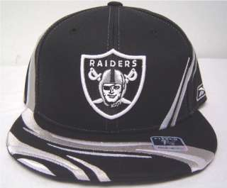 NFL Oakland Raiders Flatbill Fitted Cap Black & Silver