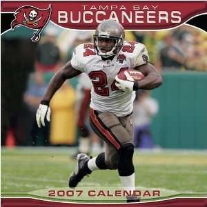 Tampa Bay Buccaneers 2007 NFL 12x12 Wall Calendar  Sports