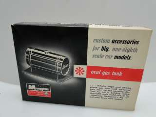SCALE OVAL GAS TANK MONOGRAM MODEL KIT VINTAGE 1963