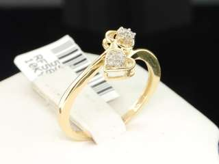 YELLOW GOLD HEART DIAMOND ENGAGEMENT RING WEDDING BRIDAL SET