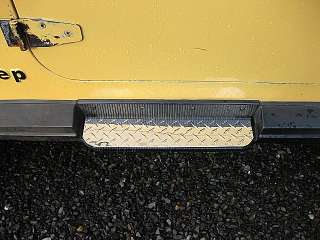 87 95 Jeep Wrangler diamond plate Step Covers AWESOME