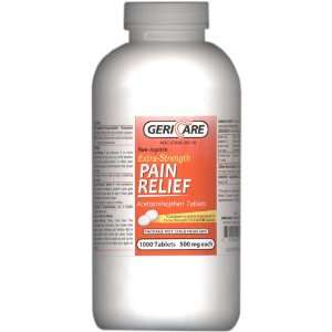 Gericare Extra Strength Pain Relief Acetaminophen Tablets 1000 Tablets