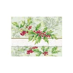 Christmas Holly Note Card Portfolio 10 Ct. Carol Wilson