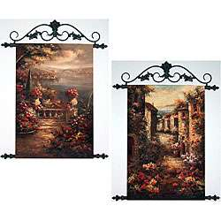 Hand painted Tuscan Scenes 2 piece Tapestry Set