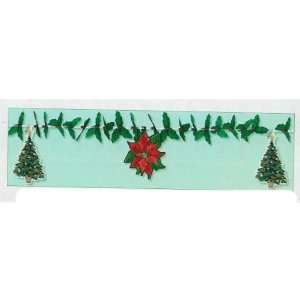 Poinsettia, Holly, & Christmas Tree Garland Case Pack 5