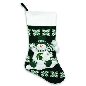 24 NCAA Michigan State Spartans Knit Snowman and Snowflake Christmas
