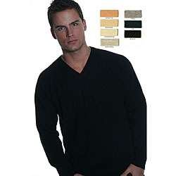 Oggi Moda Mens Cashmere V neck Sweater