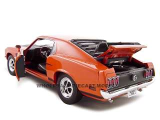 1969 FORD MUSTANG BOSS 302 ORANGE 118 DIECAST MODEL