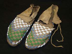 RARE SIOUX SINEW SEWN NATIVE AMERICAN MOCCASINS   PRICE DROP