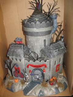 Dept 56 Fiber Optic Haunted House Castle Hallowen NEW