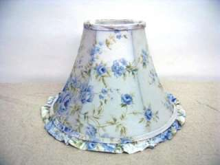 Simply Shabby Chic British Rose Lamp Shade 8 Tall Blue Rose Pattern
