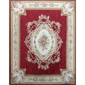 French Hand Knotted Aubusson Weave Area Rug S168