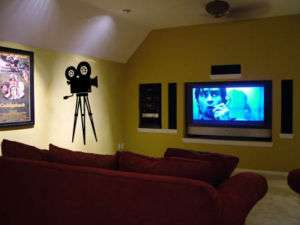 Film Camera Movie wall art decal sticker Home Theater