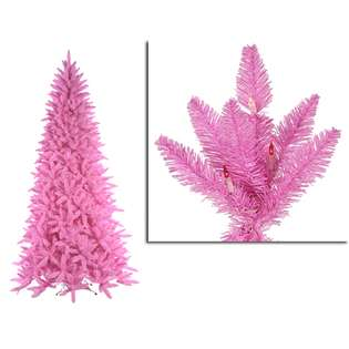 Pink Ashley Spruce Christmas Tree   Clear & Pink Lights