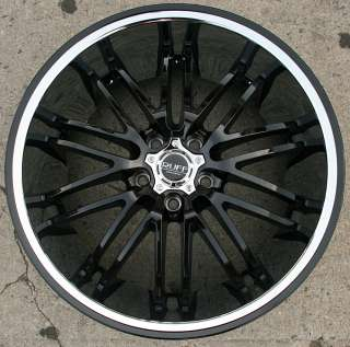 RUFF RACING 941 20 BLACK w/ CHROME LIP RIMS WHEELS BENZ ML550 / 20 X