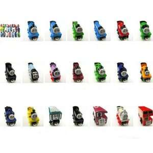 children baby toys thmas woode train locomotive car magnets can be