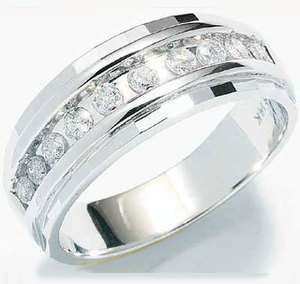 Men Wedding Diamond Ring Engagement Band White Gold NEW