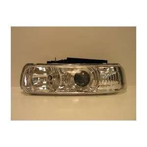 Depo Chevy Silverado Truck 99 02 LED Headlamp Set Chrome Projector