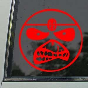 Smile Face Eddie Iron Maiden Band Red Decal Car Red