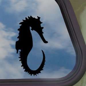 Sea Horse Black Decal Scuba Diving Dive Car Sticker
