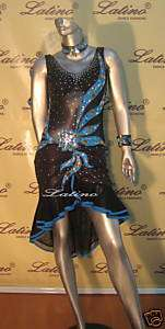 LATIN SALSA(BALLROOM) COMPETITION DRESS SIZE M (LT276)