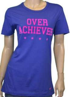 Nike Womens Over Achiever Shirt Purple Clothing