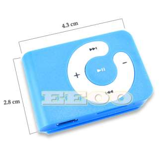 USB Flash Disk 4GB Mini Clip Gift  Player Micro SD TF Card Blue