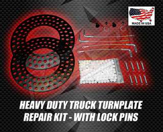 HEAVY DUTY TRUCK ALIGNMENT TURNPLATE REPAIR KIT WITH LOCK PINS RACK