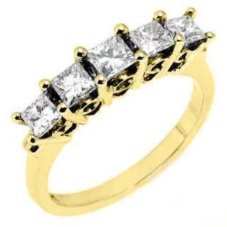 BAGUETTE ROUND CUT DIAMOND RING WEDDING BAND YELLOW GOLD