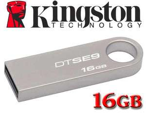 Kingston 16GB 16G DataTraveler DTSE9 Metal USB Memory Flash Pen Key
