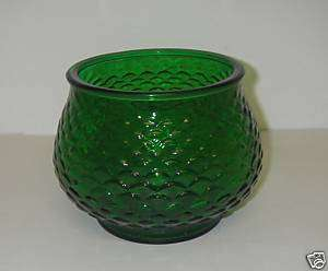 Vintage E O Brody Glass VASE G100 Fish Scale Green