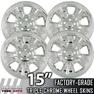 03 07 SUBARU FORESTER 15 Chrome Wheel Skin Covers Automotive