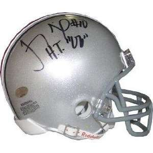 Troy Smith signed Ohio State Buckeyes Replica Mini Helmet HT 06